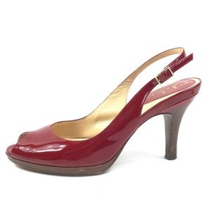 Cole Haan Nike Air Patent Leather Slingback Heels